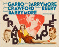 "Movie Posters:Academy Award Winners, Grand Hotel (MGM, R-1962). Half Sheet (22"" X 28""). Academy Award Winners.. ..."