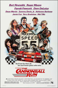 """The Cannonball Run & Others Lot (20th Century Fox, 1981). One Sheets (20) (27"""" X 41""""), Uncut Pressbook..."""
