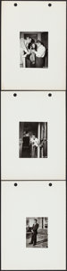 """Movie Posters:Drama, Rebel without a Cause (Warner Brothers, 1955). Behind the Scenes Keybook Photos (3) (8"""" X 11""""). Drama.. ... (Total: 3 Items)"""