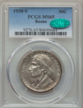 Commemorative Silver, 1938-S 50C Boone MS65 PCGS. CAC. PCGS Population: (225/186). NGC Census: (163/139). CDN: $400 Whsle. Bid for problem-free N...
