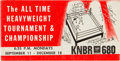 Boxing Collectibles:Autographs, 1967 All-Time Heavyweight Tournament & Championship Fight Promotional Folder & Booklet.. ...