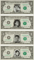 Boxing Collectibles:Autographs, 2003 Muhammad Ali Face on U.S. Currency Lot of Four....