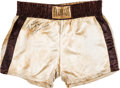 Boxing Collectibles:Autographs, 1975 Muhammad Ali Training Worn Trunks for the Thrilla InManilla....