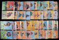 Football Cards:Sets, 1989 Goal Line Art Pro Football Hall of Fame Art Series Set With Album - First 7 series....