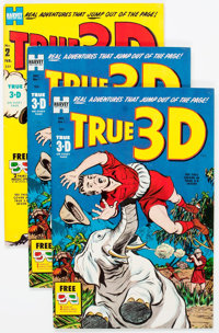 True 3-D #1 and #2 File Copies Short Box Group (Harvey, 1953) Condition: Average VF/NM