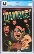 Golden Age (1938-1955):Horror, The Thing! #7 (Charlton, 1953) CGC FN- 5.5 Off-white pages....