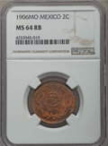 Mexico, Mexico: Republic 2 Centavos 1906-Mo MS64 Red and Brown NGC,...