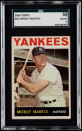 Baseball Cards:Singles (1960-1969), 1964 Topps Mickey Mantle #50 SGC 50 VG/EX 4....