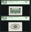 Fractional Currency:First Issue, Fr. 1313SP 50¢ First Issue PCGS Choice About New 58.. ... (Total: 2notes)