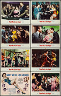 """Movie Posters:Musical, Meet Me in Las Vegas (MGM, 1956). Lobby Card Set of 8 (11"""" X 14""""). Musical.. ... (Total: 8 Items)"""