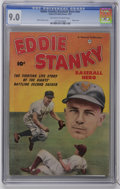 Golden Age (1938-1955):Non-Fiction, Eddie Stanky #nn (Fawcett, 1951) CGC VF/NM 9.0 Off-white to whitepages. OK baseball fans, who played second base during Jac...
