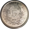 Patterns: , 1866 5C Washington Five Cents, Judd-470, Pollock-562, Low R.6, PR62PCGS. On the obverse, a bust of George Washington faces...