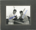 Autographs:Photos, Mickey Mantle and Stan Musial Dual Signed Photograph. The Hall ofFame slugging pair of Stan Musial and Mickey Mantle has b...