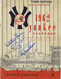 Autographs:Others, 1962 Signed New York Yankees Yearbook. From the midst of theimpressive World Series dynasty that the New York Yankees enj...