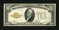 Small Size:Gold Certificates, Fr. 2400 $10 1928 Gold Certificate. Fine.. A pleasing, moderately circulate example of this popular type note. There are thr...