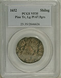 Colonials: , 1652 SHILNG Pine Tree Shilling, Large Planchet VF35 PCGS. Noe-2, Crosby 4-F, R.5. 67.9 grains....