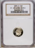 Proof Roosevelt Dimes: , 1980-S 10C PR69 Deep Cameo NGC. NGC Census: (311/7). PCGSPopulation (4314/102). Numismedia Wsl. Price: $18. (#95260)...