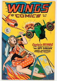 Wings Comics #99 (Fiction House, 1948) Condition: FN+