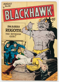Blackhawk #20 (Quality, 1948) Condition: VG-
