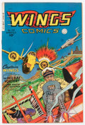 Golden Age (1938-1955):War, Wings Comics #110 (Fiction House, 1949) Condition: VF....