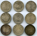 Mexico, Mexico: Republic Lot of Nine 8 Reales Coins,... (Total: 9 coins)