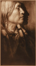 Photographs, Edward Sheriff Curtis (American, 1868-1952). Vash Gon, Jicarilla, 1904. Sepia-toned gelatin silver, printed later. 7-5/8...