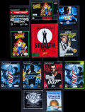 "Movie Posters:James Bond, James Bond Video Game Lot (Various, 1988-2004). Video Games (9)(4.25""-7.25"" X 5.5""-9""), Video Game Demos (3) (approx. 5"" X ...(Total: 24 Items)"