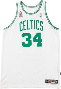 Basketball Collectibles:Uniforms, 2001-02 Paul Pierce Signed Game Worn Boston Celtics Jersey with9/11 Memorial Patch....