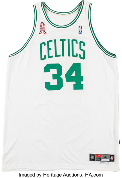 san francisco 6da0f 99148 2001-02 Paul Pierce Signed Game Worn Boston Celtics Jersey ...