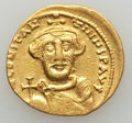 Ancients:Byzantine, Ancients: Constans II Pogonatus (AD 641-668). AV solidus (4.39gm)....