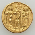 Ancients:Byzantine, Ancients: Heraclius (AD 610-641), with Heraclius Constantine andHeraclonas. AV solidus (4.40 gm)....