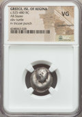 Ancients:Greek, Ancients: SARONIC ISLANDS. Aegina. Ca. 480-457 BC. AR stater....