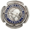Miscellaneous Collectibles:General, 1908 London Summer Olympics Judge's Badge....