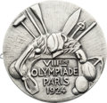 Miscellaneous Collectibles:General, 1924 Paris Summer Olympics Silver Second-Place Medal....