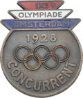 Miscellaneous Collectibles:General, 1928 Amsterdam Summer Olympics Competitor's Badge....