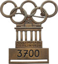 Miscellaneous Collectibles:General, 1936 Berlin Summer Olympics Competitor's Badge....