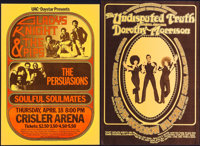 Gladys Knight and the Pips at the Crisler Arena & Other Lot (UAC-Daystar, 1974). Concert Window Cards (2) (14&qu...