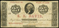 Obsoletes By State:Ohio, Williamsport, OH- E.S. Davis 25¢ Apr. 10, 1862. ...