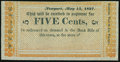 Obsoletes By State:Rhode Island, Newport, RI- W.C. Cozzens & Co. 5¢ May 15, 1837 Remainder. ...