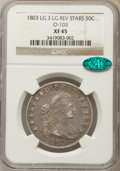 Early Half Dollars, 1803 50C Large 3, Large Reverse Stars, O-103, T-3, R.3, XF45 NGC.CAC....