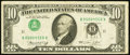 Error Notes:Inverted Third Printings, Fr. 2022-K $10 1974 Federal Reserve Note. Fine....