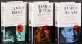 "Movie Posters:James Bond, A James Bond Quintet by Ian Fleming and Others Lot (Jonathan Cape,1993). British Hardcover Books (3) (Multiple Pages, 5.5"" ...(Total: 3 Items)"