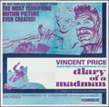 "Movie Posters:Horror, Diary of a Madman (United Artists, 1963). Six Sheet (79"" X 80""). Horror.. ..."