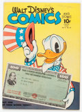 Golden Age (1938-1955):Cartoon Character, Walt Disney's Comics and Stories #46 (Dell, 1944) Condition: VG....