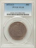 Seated Half Dollars: , 1872-CC 50C VG10 PCGS. PCGS Population: (20/168). NGC Census: (2/71). Mintage 257,000. ...