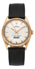 Timepieces:Wristwatch, Rolex Ref. 1005 Gold Oyster Perpetual Damaged Back. ...