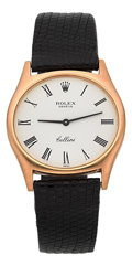 Timepieces:Wristwatch, Rolex Ref. 3806 Gold Cellini. ...