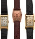 Timepieces:Wristwatch, Three Gruen 14k Gold Vintage Wristwatches. ... (Total: 3 Items)