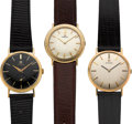 Timepieces:Wristwatch, Three Omega 14k Gold Watches. ... (Total: 3 Items)