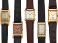 Timepieces:Wristwatch, Five 14k Gold Vintage Wristwatches. ... (Total: 5 Items)